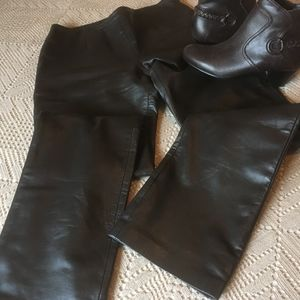 MODA International Brown Leather Pants